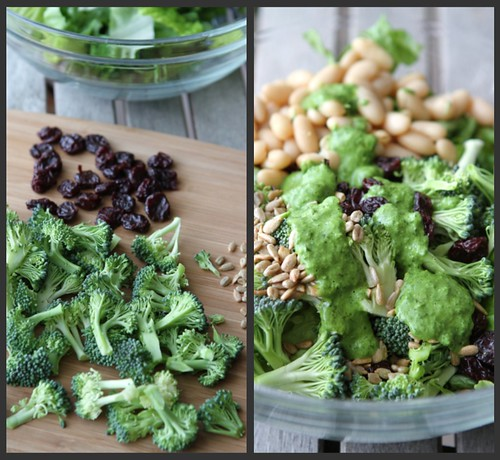 Broccoli Cherry Salad Collage