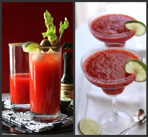 Super Bowl Drinks Collage