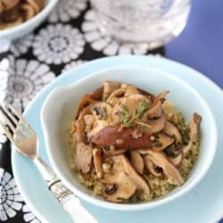Sauteed Mushrooms with Marsala Wine & Thyme Recipe