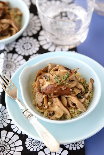 Sauteed mushrooms are fantastic on their own, but are taken to a whole new level with the addition of Marsala wine and thyme. #mushrooms #sidedish