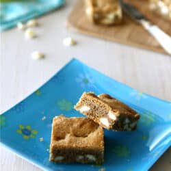White Chocolate Chip Bar Recipe with Brown Butter & Espresso