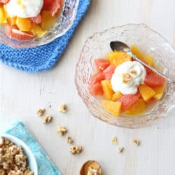 Pink Grapefruit & Orange Compote with Ginger Yogurt Recipe