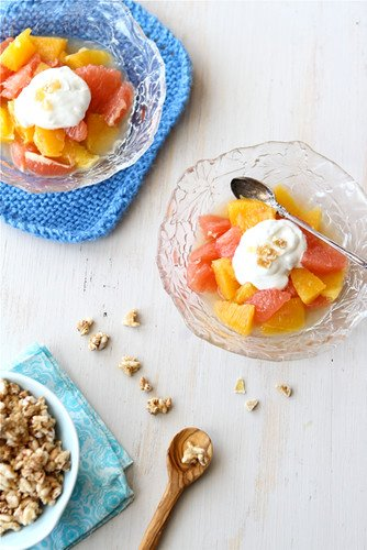 This light and bright citrus compote, topped with ginger-infused yogurt, is perfect for weekend brunch or a quick weekday breakfast.