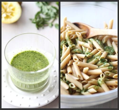 Salmon Herb Pasta Salad Collage 1