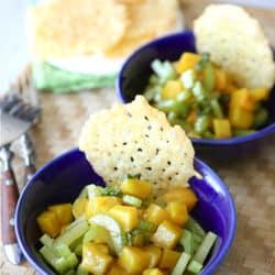 Dubliner Cheese & Cayenne Crisps with Golden Beet & Basil Salad Recipe