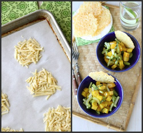 Dubliner Cheese & Cayenne Crisps with Golden Beet & Basil Salad Recipe
