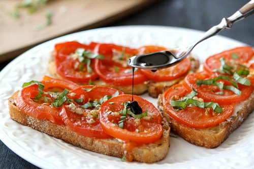 Roasted Tomato Sandwich Recipe with Goat Cheese & Balsamic Syrup
