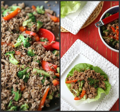 Easy Turkey & Broccoli Lettuce Wraps with Chinese Black Bean Sauce Recipe