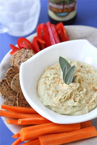 White Bean Dip Recipe with Parmesan Cheese & Sage