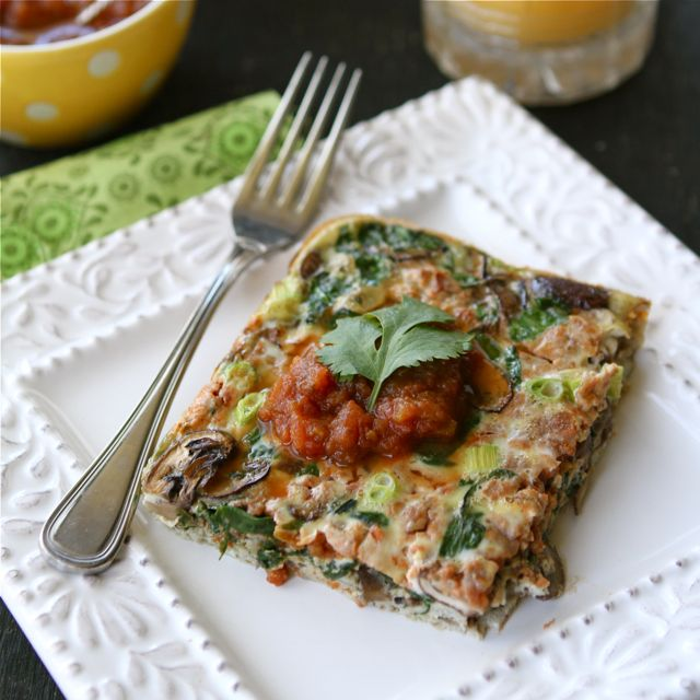 Baked Egg Breakfast Casserole With Mushrooms Spinach