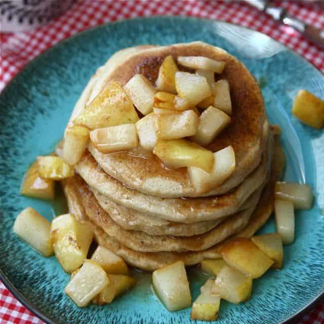 Caramel & Sea Salt Pear Pancakes