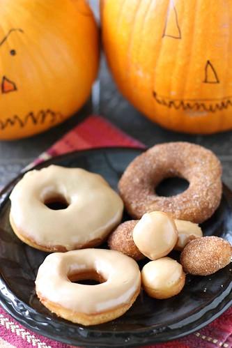 Halloween Refrigerator Donut Recipe with Maple Glaze or Cinnamon Sugar