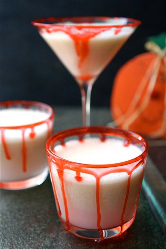 Halloween Vampire Punch Recipe with Lime Sherbet