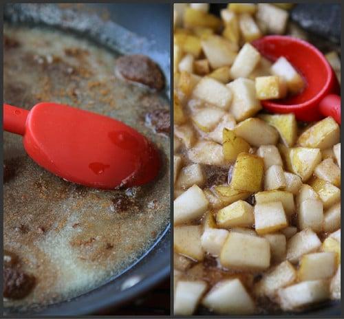 Caramel & Sea Salt Pear Pancake Recipe
