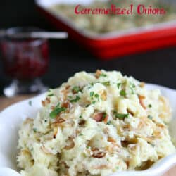Mashed Potatoes Recipe with Bacon & Caramelized Onions