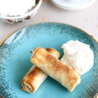 Baked Apple Pie Egg Rolls Recipe