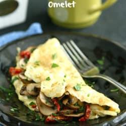 Easy Mushroom & Sun-Dried Tomato Omelet Recipe