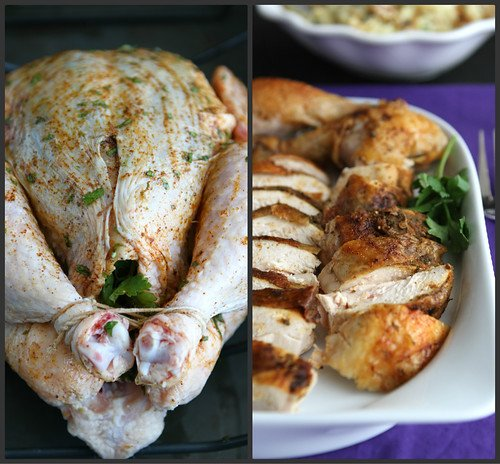 Southwestern Roast Chicken with Cumin, Chili Powder & Cilantro