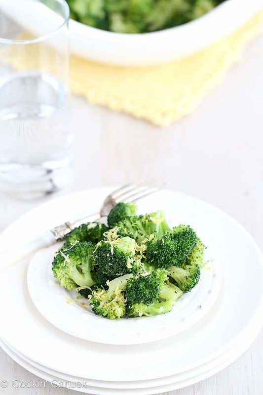 Lemon Pepper Steamed Broccoli Recipe by Cookin' Canuck