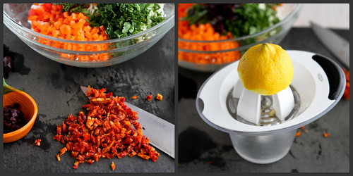 Grated Cauliflower Salad Recipe with Peppers, Carrots & Capers by Cookin' Canuck