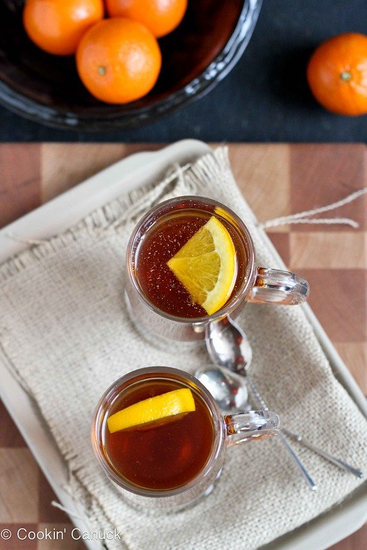 Hot Rum & Ginger Tea Toddy Recipe by Cookin' Canuck #cocktail #tea #drink