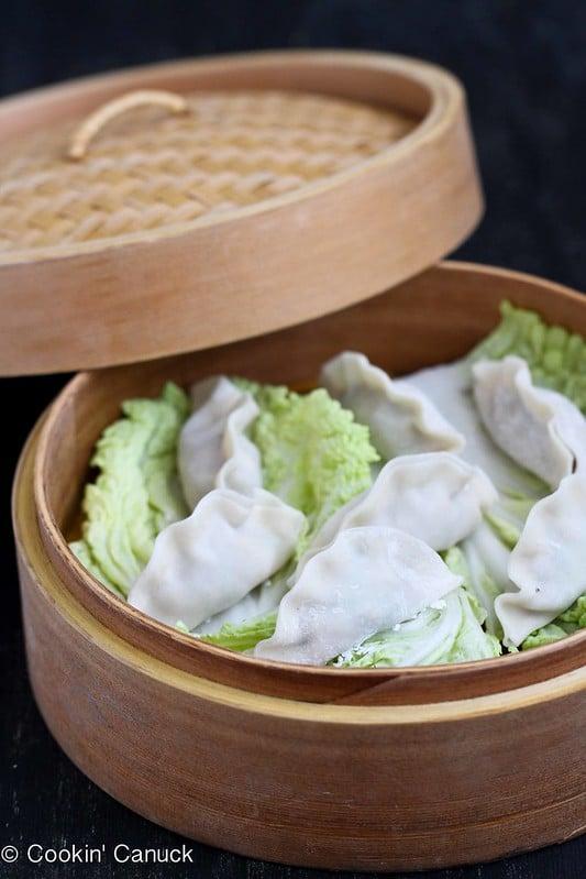 Steamed Shrimp & Mushroom Dumplings Recipe for Chinese New Year by Cookin' Canuck #ChineseNewYear #shrimp #dumplings