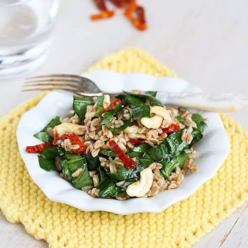 salad farro and roasted pepper salad asparagus and zucchini farro ...