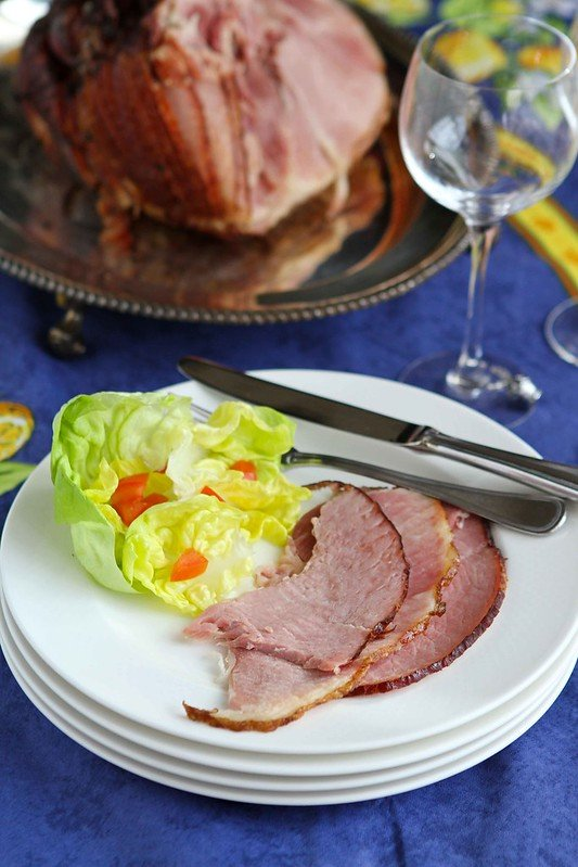 Baked Ham with Orange & Brown Sugar Glaze Recipe for Easter #recipe #Easter