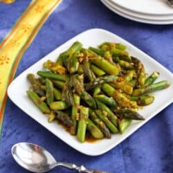 5-Ingredient Asparagus Recipe with Curry Sauce by Cookin' Canuck
