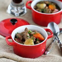 Irish Stew Recipe with Lamb, Potatoes and Guinness Beer