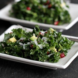 Chopped Kale Salad with Pomegranate and Avocado