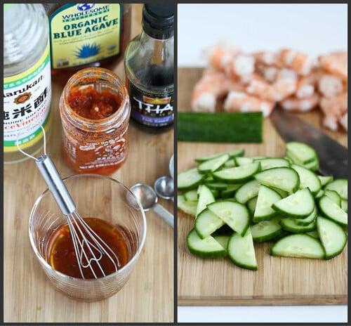 10-Minute Thai Shrimp, Cucumber and Avocado Salad Recipe #recipe #healthy
