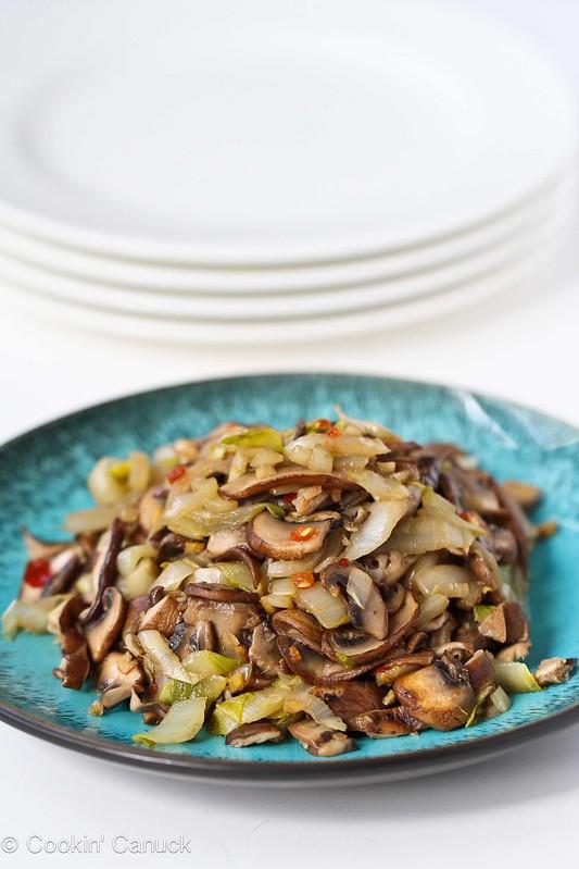 Vegetable Stir-Fry Recipe with Endive and Shiitake Mushrooms...151 calories and 3 Weight Watchers PP | #vegetarian #vegan