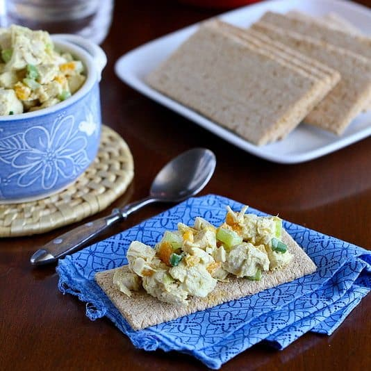 Low-Fat Chicken Salad Recipe with Curry & Apricots