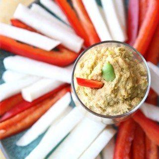 Edamame (Soy Bean) Dip with Smoked Paprika & Garlic Recipe