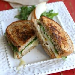 Grilled Cheese Sandwich Recipe with Brie, Pear & Hazelnuts by Cookin' Canuck