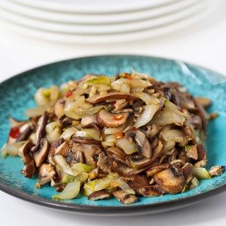 Vegetable Stir-Fry Recipe with Endive & Shiitake Mushrooms