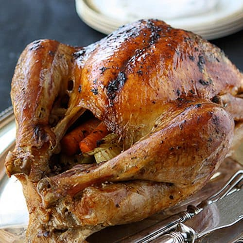 Canuck - Roasted Turkey with Herb Butter & Roasted Shallots Recipe ...