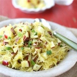 Spaghetti Squash with Apples & Toasted Pecans Recipe by Cookin' Canuck