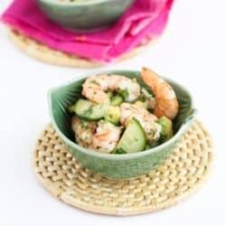 10-Minute Thai Shrimp, Cucumber & Avocado Salad Recipe