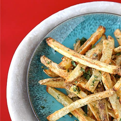 Baked French Fries with Indian Spices (Cumin & Coriander)