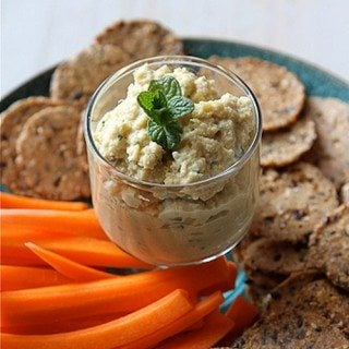 Artichoke Hummus Recipe with Hazelnuts & Fresh Mint