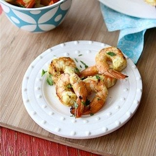 Grilled Curry Shrimp Skewers with Grilled Onion & Red Pepper Sauce Recipe