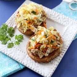 Slow Cooker Hoisin Shredded Chicken Sandwich Recipe with Asian Slaw | cookincanuck.com