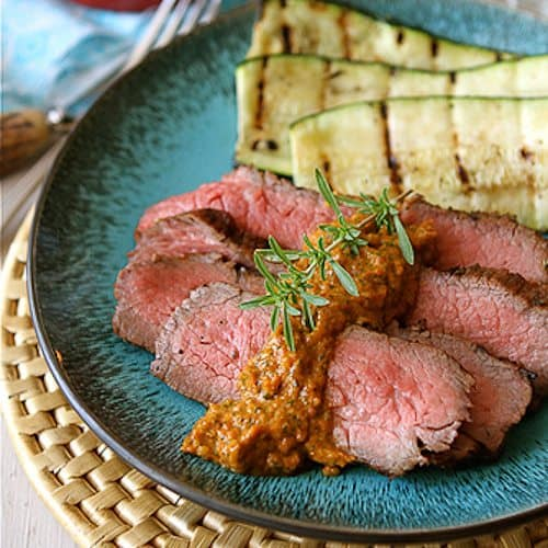 ... bell pepper hummus grilled tri tip steak with bell pepper salsa