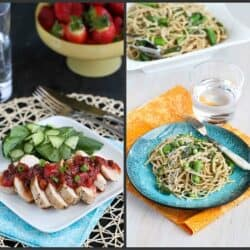 Grilled Chicken with Rhubarb Chutney & Pasta Primavera Recipe