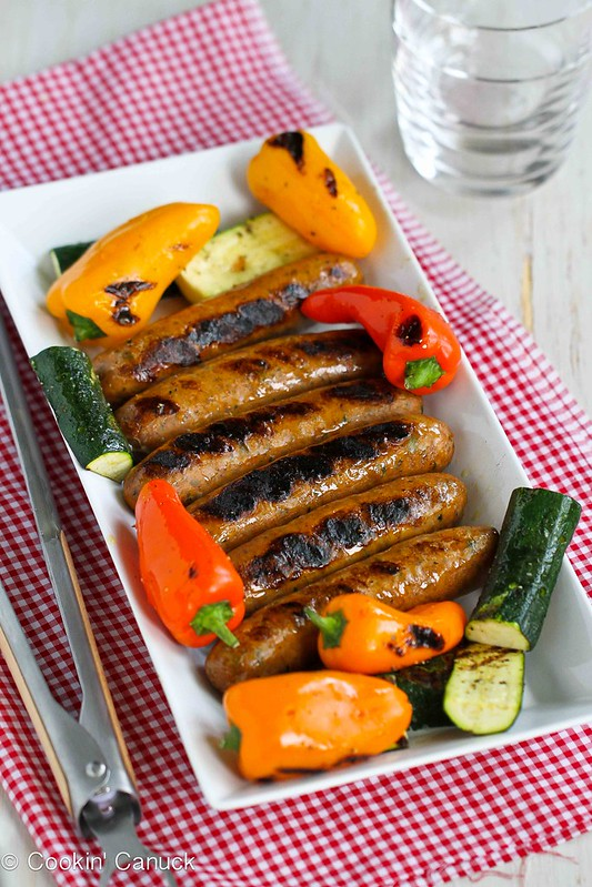 Mixed Grill Recipe with Sausages, Mini Peppers & Zucchini | cookincanuck.com