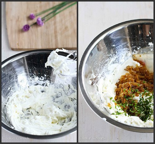 Caramelized Onion & Chive Cream Cheese Recipe | cookincanuck.com