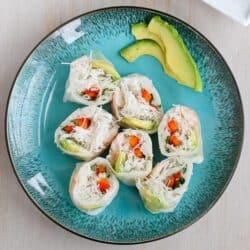 Avocado Shrimp Spring Rolls | cookincanuck.com