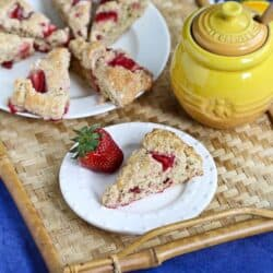 Strawberries & Cream Scone Recipe for Mother's Day {Healthy} | cookincanuck.com